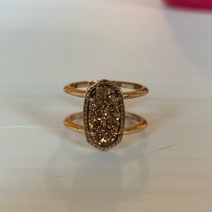 Kendra Scott elyse ring in rose gold and drusy